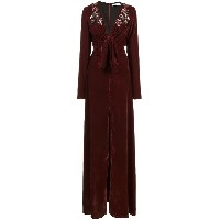 Patbo embroidered velvet gown - レッド