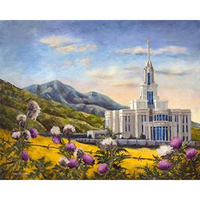 "Payson、ユタ州LDS Temple、油画プリントby Stewart - 11 X 14 "" Huntington (は印刷のオリジナルペイントby Stewart HuntingtonのLDS..."