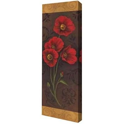 "Red PoppyパネルII by Jordan Gray – ギャラリーWrapped Gicleeキャンバスアートプリント – Ready To Hang 10"" x 30"" GW-POD-11..."