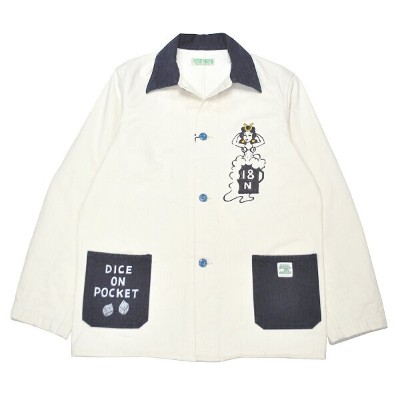 5 WHISTLE TWO TONE BEER JACKET ファイブ ホイッスル ハンドペイント カバーオール【NORTH NO NAME/ノースノーネーム】