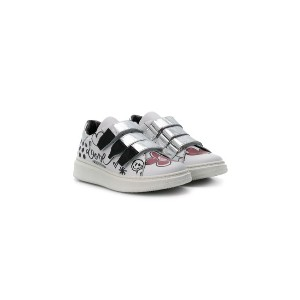 Simonetta printed touch strap sneakers - ホワイト