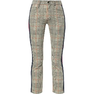 Mother cropped tartan trousers - ホワイト