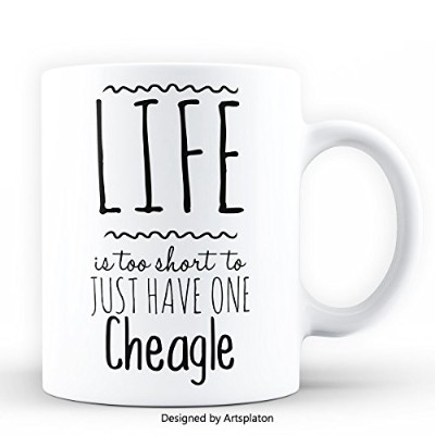 Cheagle Lovers, Life is too short to just have one Cheagle, Funny Coffee Mug, 11オンス ホワイトセラミックマグ...