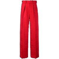 Alexandre Vauthier straight trousers - レッド