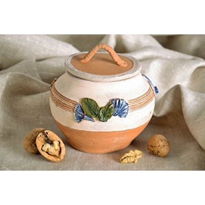 Clay Pot with Lid – Great Gift Idea by MadeHeart