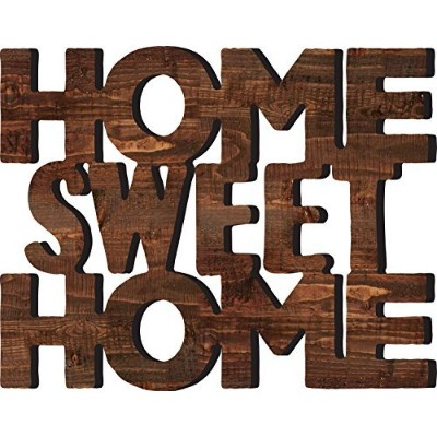 Home Sweet Home 15.5 X 19.25 Cutout木製壁WordsマウントPlaque