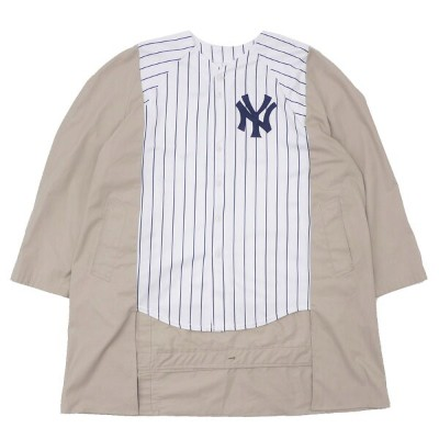 AWESOME BOY x ICHIRYU MADE NEW YORK YANKEES ニューヨークヤンキース REMAKE BASEBALL COAT【トレンチコート】 WHITExBEIGE...