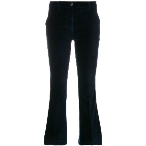 Pt01 cropped flared trousers - ブルー