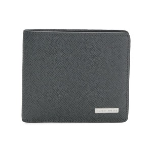 Boss Hugo Boss grained bifold wallet - グレー