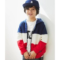 【THE SHOP TK(Kids)(ザ ショップ ティーケー(キッズ))】 裏起毛ジップアップパーカー OUTLET > トップス > パーカー ダークネイビー