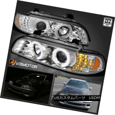 ヘッドライト 2001-2003 BMW E39 530I 525I LED Signal Halo Projector Headlight Black 2001-2003 BMW E39 530I...