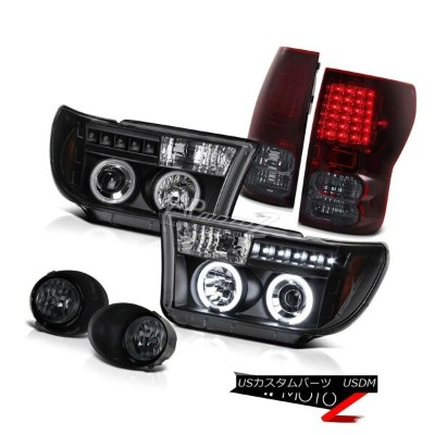 ヘッドライト 07-2013 Toyota Tundra CCFL Halo Projector Headlight+Led TailLight+Smoke Fog Lamp 07-2013...