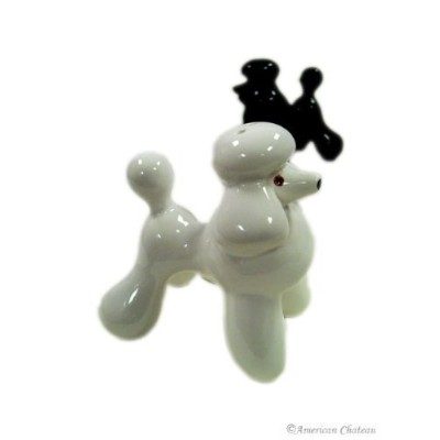 Abbott Collection Ceramic Poodle Salt and Pepper Shakers (2 pieces)