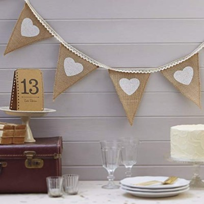 Vintage Affair - Hessian & Lace Bunting