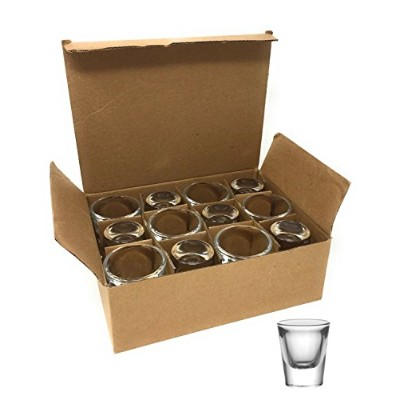 (12 Pack) - BarConic 30ml Thick Base Clear Shot Glass (12 Pack)