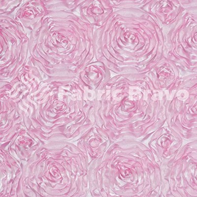 Baby Pink Rosette Satin Fabric - Sold By The Yard (FB) by Fabric Bravo [並行輸入品]