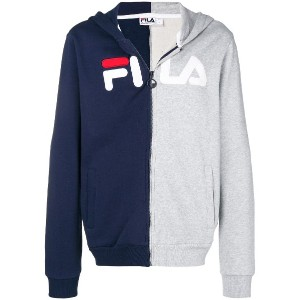 Fila logo zipped jacket - ブルー