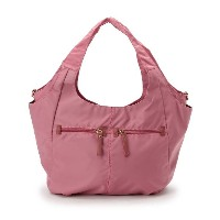 【smart pink(スマートピンク)】 ナイロンWポケット OUTLET > バッグ・財布・小物入れ > トートバッグ ピンク