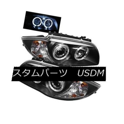 ヘッドライト BMW 08-11 E87 1-Series Black Dual Halo Projector Headlight Lamp 128i 135i BMW 08-11 E87...