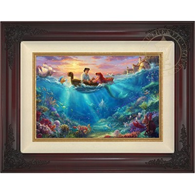 "トーマスKinkade – The Little Mermaid Falling In Love 12 "" x 18 ""標準数( S / N ) Limited Editionキャンバス..."