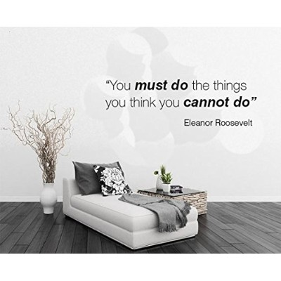 """You Must Do The Things You Do–Quoteできません–壁画壁デカールホーム寝室用リビングルーム取り外し可能な壁ステッカー( j145) Wide 30""""x9""""..."""