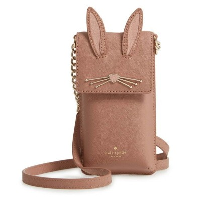 ケイトスペード iPhoneケース 8ARU2653 Kate Spade IPHONE CASES RABBIT NORTH SOUTH PHONE CROSSBODY (tan multi)...