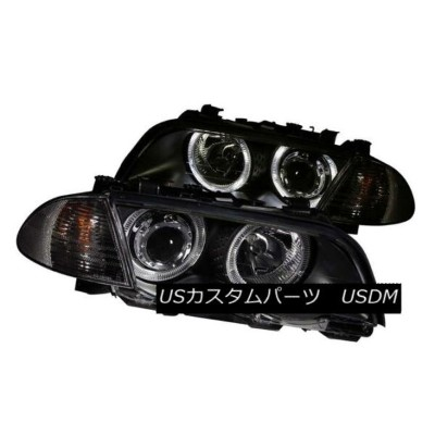 ヘッドライト ANZO 121261 Pair 2 Halo Projector Headlights w/Corner Lights for BMW 3-Series ANZO 121261ペアBM...
