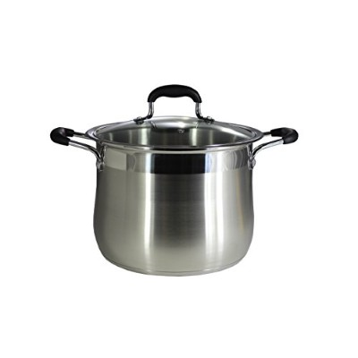 (9.5l) - CONCORD Stainless Steel Stock Pot with Glass Lid (Induction Compatible) ((9.5l)