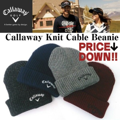 【Callaway Knit Cable Beanie】キャロウェイ ケーブルビニー ニットキャップ 6991010