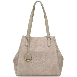 Lauren Ralph Lauren Anchor suede tote bag - ニュートラル