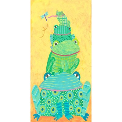 Oopsy daisy Frog Stack Canvas Wall Art by Stephanie Bauer, 30cm x 60cm