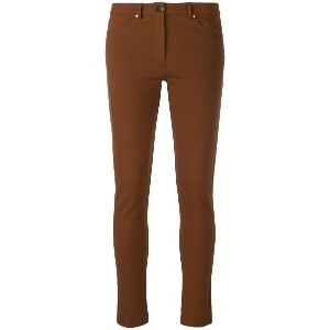 D.Exterior skinny trousers - ブラウン