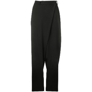 Federica Tosi wrap front trousers - ブラック