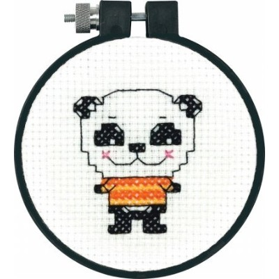 "Learn-A-Craft Cute Panda Counted Cross Stitch Kit-3"" Round 11 Count (並行輸入品)"