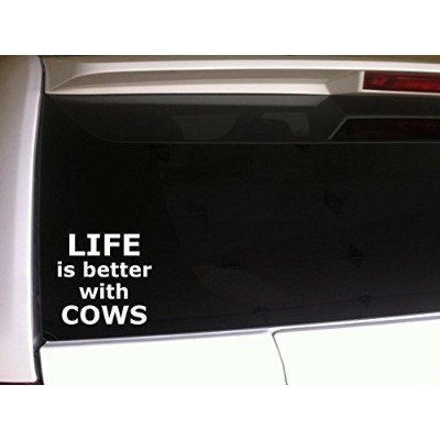 """Life 's Better Cows 6""""ビニールステッカーデカール* e58Farming Agriculture"""