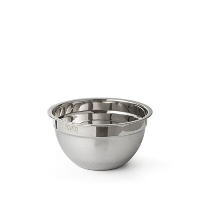 (1.4l) - Stainless Steel Mixing Bowl - 1.4l - Flat Bottom Non Slip Base, Retains Temperature,...