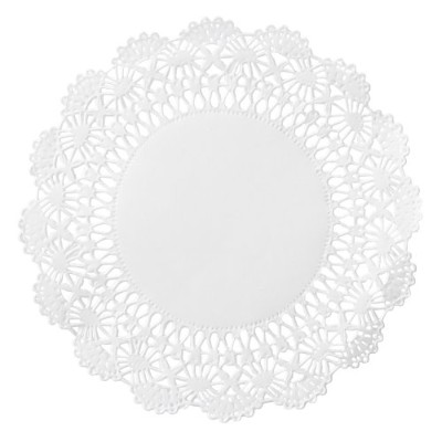 Hoffmaster 500233 4 in. White Cambridge Lace Doilie - Case of 1000