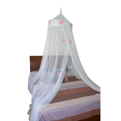 (White) - Butterfly Bed Canopy Mosquito Net for All Size Bed, Room Decoration, Party Events (White)
