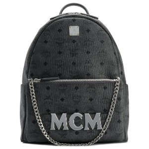 MCM logo plaque backpack - グレー