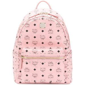 MCM studded logo backpack - ピンク