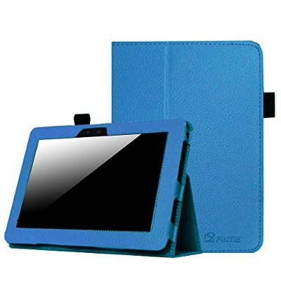 Fintie Slim Fit Leather Case Cover Auto Sleep/Wake for Kindle Fire HD 7 Tablet, Blue - 並行輸入品