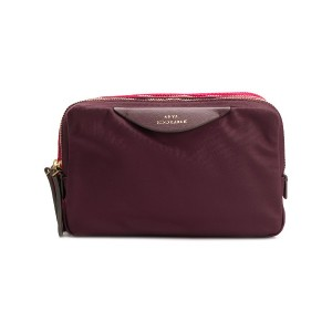 Anya Hindmarch stack triple make-up pouch - レッド
