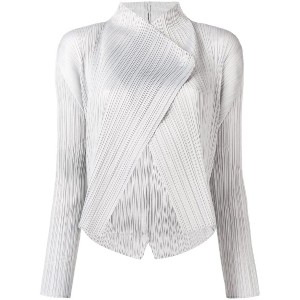 Pleats Please By Issey Miyake micro pleated jacket - グレー