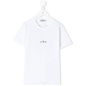 Stone Island Junior logo T-shirt - ホワイト