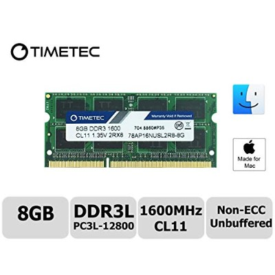 Timetec Hynix IC 8 GB Mac用 DDR3L 1600 MHz PC3L 12800 SODIMM SODIMM Apple専用増設メモリ 永久保証 8GB