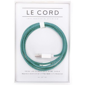 Le Cord Thumpster braided Apple cable - グリーン