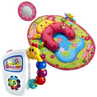 Tiny Love Tummy Time Ladybug Activity Mat & Baby Einstein Take-A-Long Tunes by Tiny Love