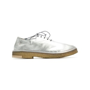 Marsèll distressed lace-up shoes - シルバー
