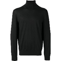 Z Zegna turtle-neck fitted sweater - ブラック