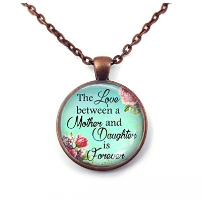 The Love Between a Mother and Daughter is Foreverネックレスペンダントまたはキーチェーンチャーム シルバー